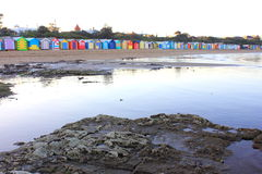 Casas de praia coloridas Foto de Stock Royalty Free
