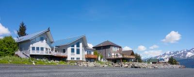 Casas de praia no seward imagens de stock royalty free