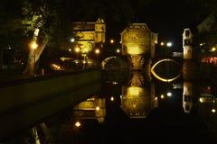 Casas de puente en mán Kreuznach Imágenes de archivo libres de regalías