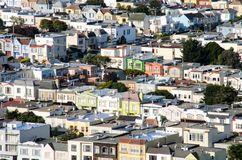 Casas de San Francisco Foto de archivo libre de regalías