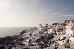 Casas de Santorini foto de archivo libre de regalías