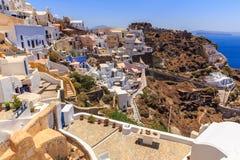 Casas de Santorini Imagenes de archivo