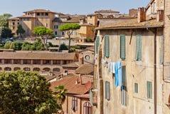 Casas de Siena Fotografía de archivo