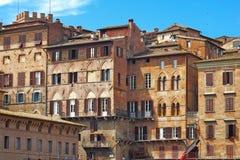 Casas de Siena, Italia Fotos de archivo libres de regalías