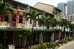 Casas de Singapore Foto de Stock Royalty Free