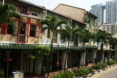 Casas de Singapur Foto de archivo libre de regalías