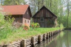 Casas de Spreewald Fotografía de archivo