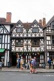 Casas de Stratford-Sobre-Avon Imagenes de archivo