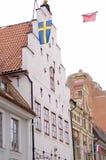 Casas de Sweden Kalmar Foto de Stock Royalty Free