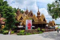 Casas de Tailandia en templo Fotografía de archivo