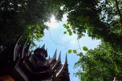 Casas de Tailandia en templo Imagenes de archivo