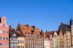 Casas de Tenement em Gdansk Imagem de Stock
