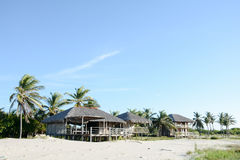 Casas de Tradicional en la playa Foto de archivo
