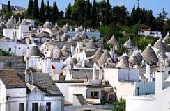 Casas de Trulli en Alberobello imagen de archivo libre de regalías