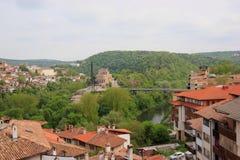 Casas de uma cidade da montanha Imagens de Stock