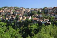 Casas de una ciudad de la montaña Fotografía de archivo libre de regalías