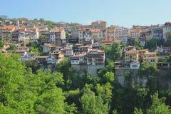 Casas de una ciudad de la montaña Imagen de archivo
