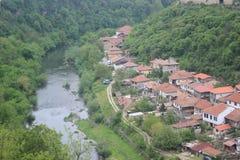 Casas de una ciudad de la montaña Imagen de archivo libre de regalías