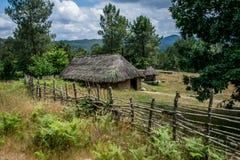 Casas de una gente céltica en Galicia, España imagen de archivo libre de regalías