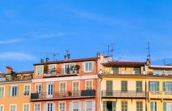 Casas de vida de riviera francesa, Niza fotografía de archivo libre de regalías