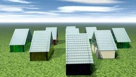 Casas de vidro ilustração stock