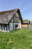 Casas de Viking em Ribe foto de stock royalty free