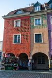 "Casas de vivienda, ""de PoznaÅ, Polonia imagenes de archivo"