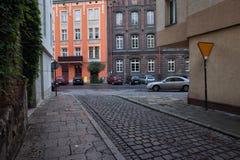 Casas de vivienda en Kazimierz District de Kraków Imagen de archivo libre de regalías