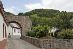 Casas de Woodframe en Zwingenberg Fotos de archivo