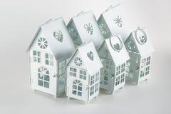 Casas decorativas brancas imagem de stock