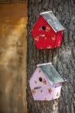 Casas decorativas do pássaro Fotografia de Stock