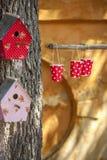 Casas decorativas do pássaro Fotos de Stock