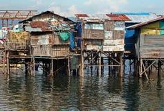 Casas del agua Fotos de archivo libres de regalías