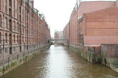 Casas del almacén en Hamburgo (2) Fotografía de archivo