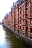 Casas del almacenamiento de Hamburgo Imagen de archivo libre de regalías