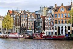 Casas del baile de Amsterdam Imagen de archivo