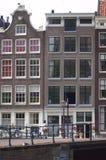 Casas del canal de Amsterdam Foto de archivo libre de regalías