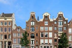 Casas del canal del verano Imagen de archivo