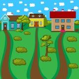 Casas del color fijadas Foto de archivo