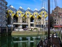 Casas del cubo en Rotterdam, Países Bajos Fotografía de archivo