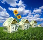 Casas del dólar en campo imagen de archivo libre de regalías