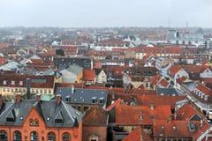 Casas del danés de la ciudad de Helsingor fotografía de archivo libre de regalías