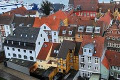 Casas del danés de la ciudad de Helsingor fotos de archivo