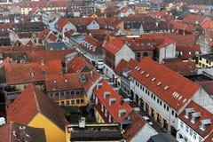 Casas del danés de la ciudad de Helsingor imagen de archivo libre de regalías