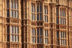 Casas del detalle del parlamento Fotografía de archivo