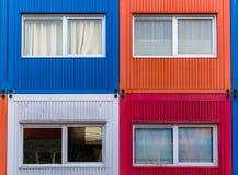 Casas del envase Foto de archivo libre de regalías