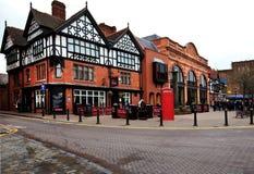 Casas del estilo de Tudor y del Victorian, Chester Imagen de archivo libre de regalías