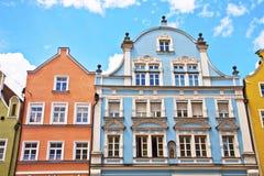 Casas del estilo del renacimiento, Landshut, Alemania Imagen de archivo