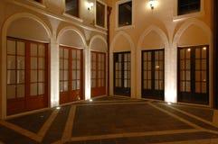 Casas del estilo italiano de Riviera, embarcadero del pescador Fotografía de archivo libre de regalías