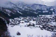 Casas del gasshozukuri del shirakawago del patrimonio mundial Imagenes de archivo
